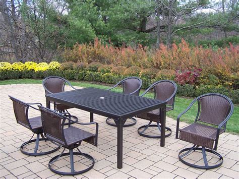 Wrought Iron 7 Patio Set by Oakland Living Rochester Tuscany Wrought Iron 7 Pc Dining