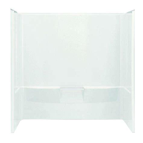 bathtub wall set sterling performa 60 in x 30 in x 60 1 4 in 3 piece tub