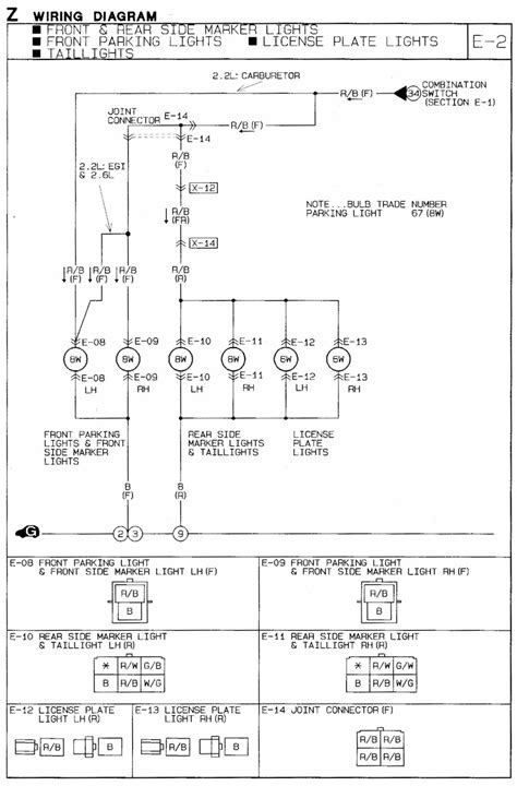 b2600 mazda wiring diagram 1991 mazda b2600i wiring diagram parking marker lights b2600i