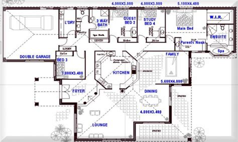 8 Bedroom Floor Plans | 8 bedroom floor plans 4 bedroom open floor plans open
