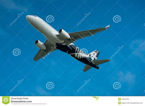 Air New Zealand Sky by Air New Zealand Airbus A320 In Flight Editorial Stock