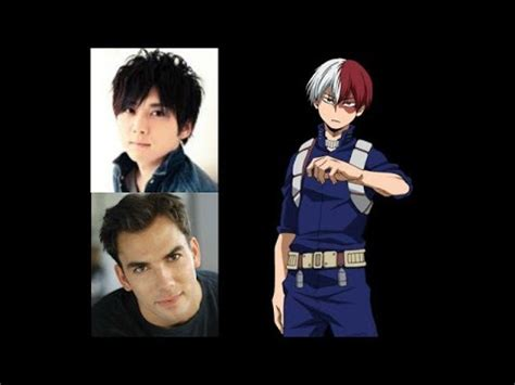 hot english anime voice actors anime voice comparison shoto todoroki my hero academia