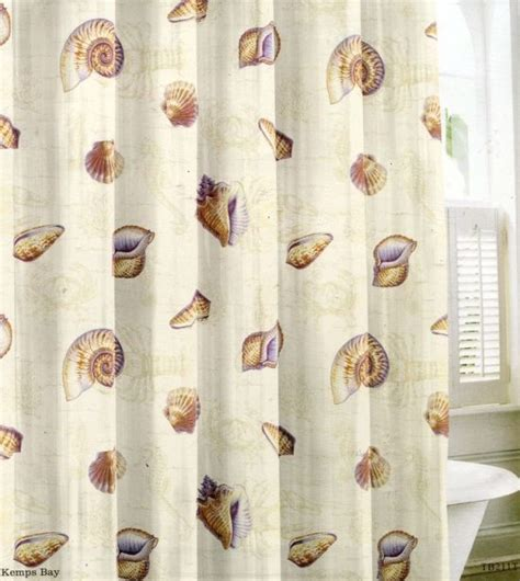 Shell Shower Curtain by Decor Shower Curtains To Create An Instant Spa Feeling