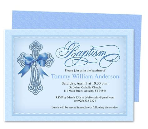 baptism invites templates faith baby baptism invitation template baby jake