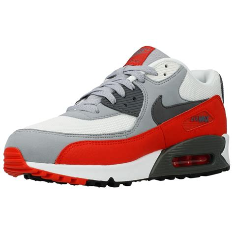 nike air max  essential   white red grey