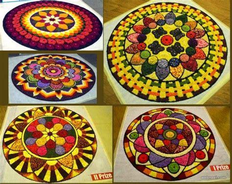 beautiful pookalam designs  onam festival