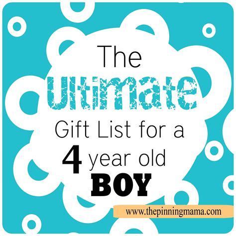 the best gift ideas for a 4 year old boy the pinning mama