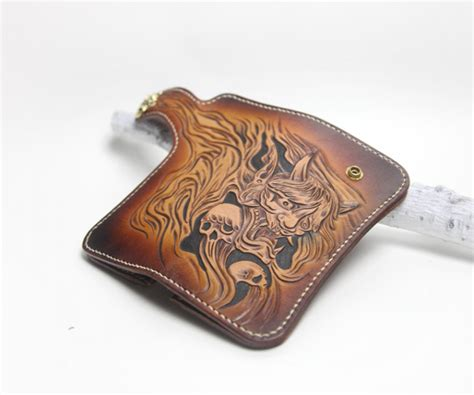 Handmade Leather Biker Wallets - unisex handmade leather biker wallets biker wallet
