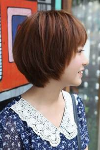 bob haircuts with feathered sides side view of cute short korean bob hairstyle sweet
