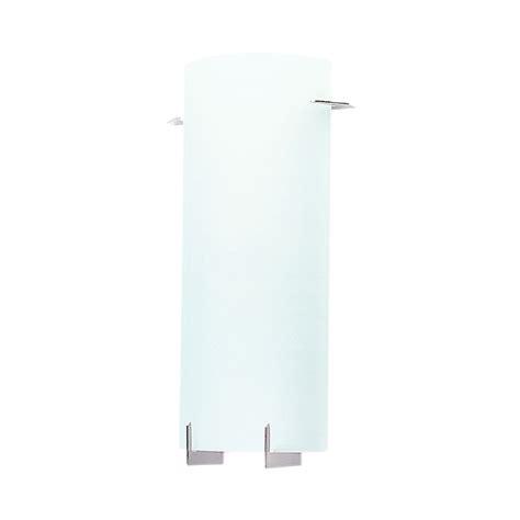 new york 2 light textured glass wall light brushed chrome