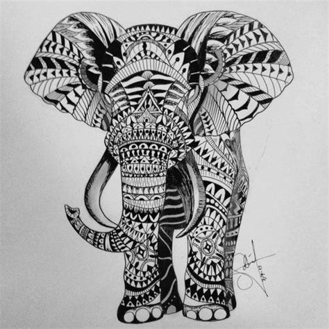 elephant coloring pages aztec designs elephant drawing image transfer ideas pinterest