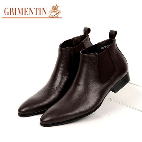 Bradleys Original Leather Boots aliexpress buy grimentin fashion winter classic vintage luxury ankle boots genuine