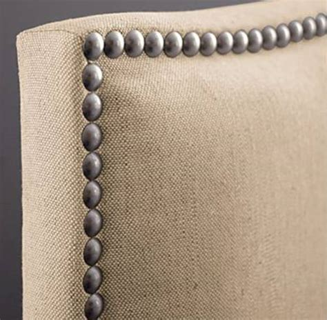 how to upholster a headboard with nailheads cheap to chic hammering home the nailhead trim