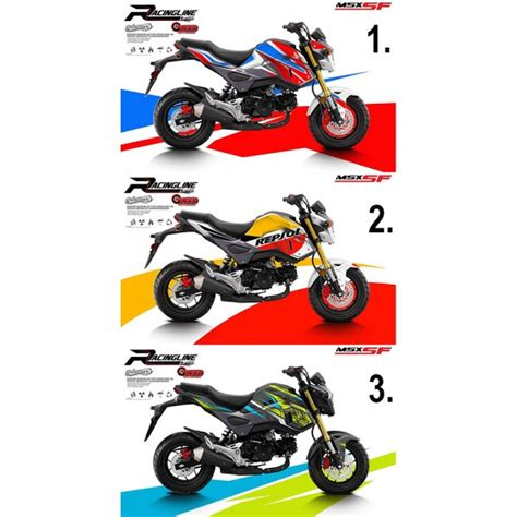 Sticker Honda Msx by Honda Grom Msx125 Sf Sticker Kit 2016 17