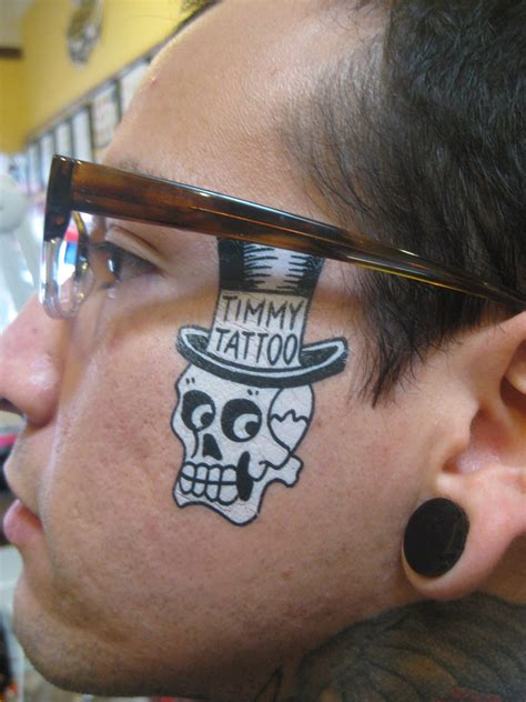 halloween face tattoos images designs