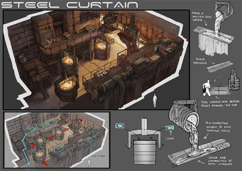 design art level level design steel curtains by yongs on deviantart