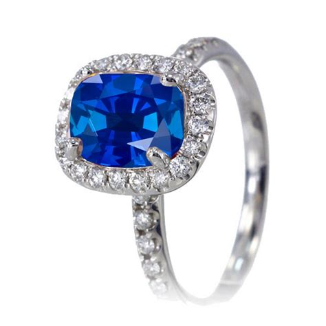 1 5 carat cushion cut sapphire antique engagement