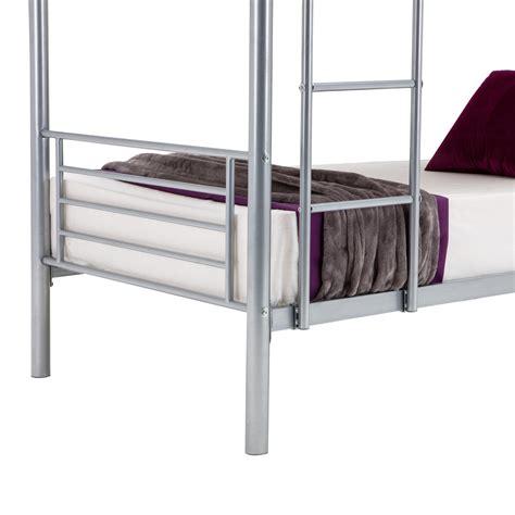 metal bunk beds frame ladder bedroom