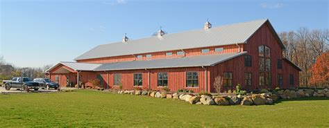 Ranch Style Home Designs by Post Frame Steel Buildings Ag Equestrian Commercial