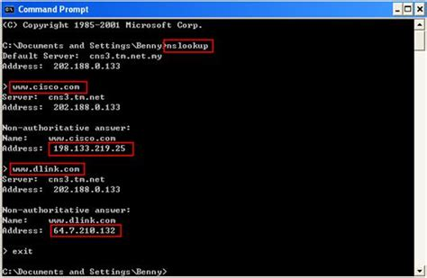 Ip Address Lookup Command How To Use Nslookup To Check Domain Name Information In Microsoft Windows