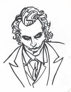 Easy Drawing Joker Why So Serious Sketch Coloring Page sketch template