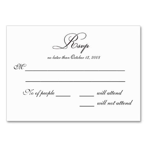 Seminar Response Cards Templates by 7 Best Images Of Rsvp Postcard Template Wedding Rsvp