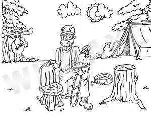 lumberjack coloring sheets coloring pages