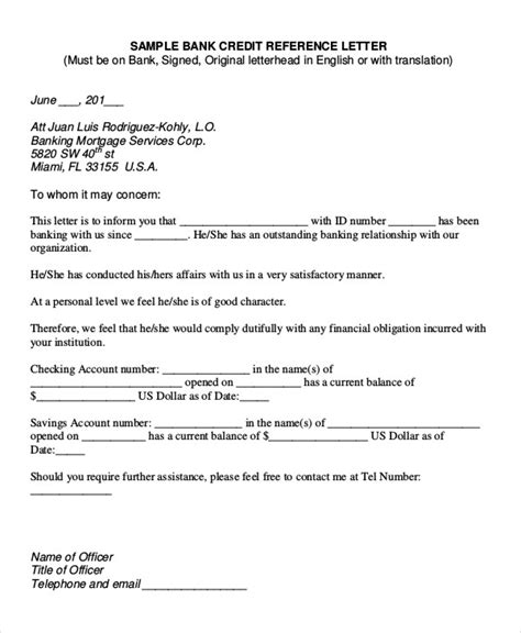 Mortgage Recommendation Letter accountant reference letter templates 9 free word pdf