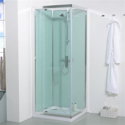 Bathroom Shower Cabins 800 X 800 Quatro Shower Cabin With Aqua White Back Panels