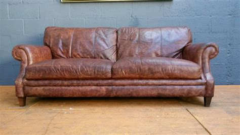Sofa Sale Birmingham by Grand Cigar Brown Antique Leather Sofa Smethwick Birmingham