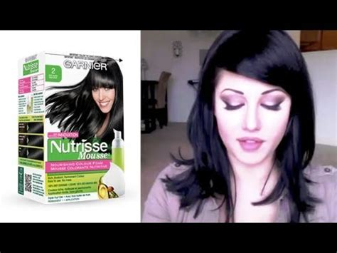garnier fructis hair color review youtube