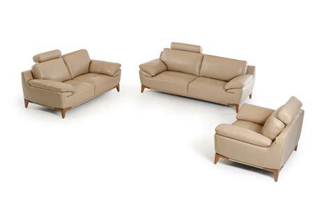 taupe leather sofa divani casa bandon mid century taupe leather sofa set