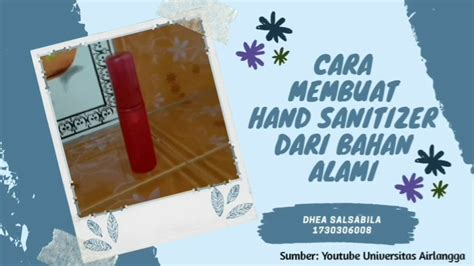 membuat hand sanitizer  bahan alami youtube
