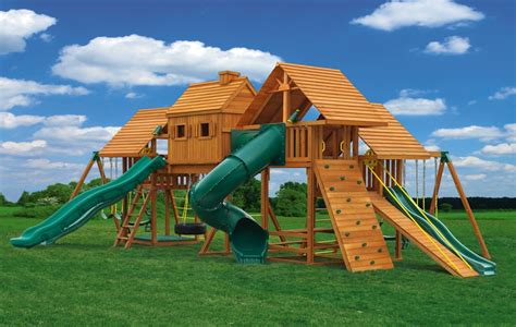 Multi Deck Imagination Wooden Playsets Eastern Jungle Gym