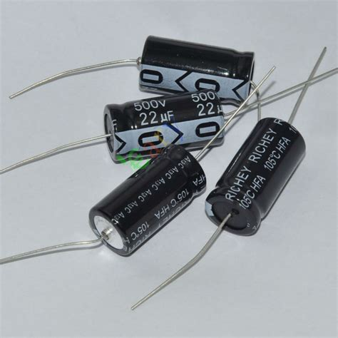 capacitor leads 10pcs 500v 22uf 105c new leads axial electrolytic capacitor audio s ebay