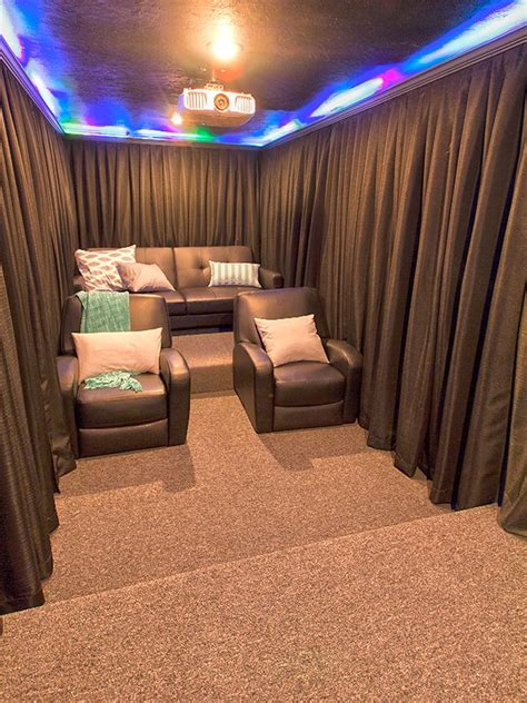 home theater curtain ideas 17 best ideas about basement movie room on pinterest