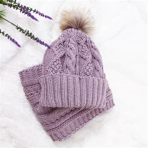 Hat Syal perlengkapan musim dingin 3 color scarf hat