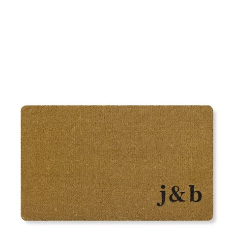 Doormat With Initial initial monogram doormat williams sonoma