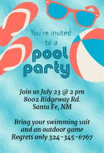 pool invite template free pool invitation template cimvitation