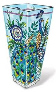 amia 10 inch painted glass vase