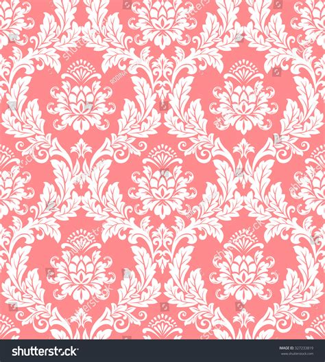 pink and white pattern wallpaper floral pattern wallpaper baroque damask seamless vector