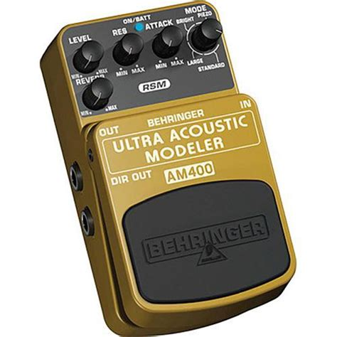 behringer am400 ultra acoustic modeler electric to am400 b h