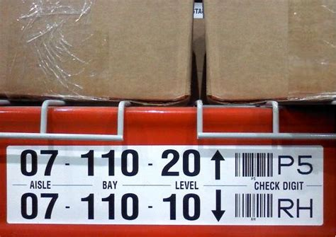 Warehouse Rack Labeling Systems by Warehouse Labels Rack Labels Rack Bin Labels Location