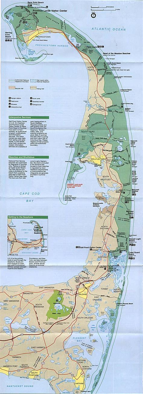 map of cape cod ma maps of cape cod national seashore park map massachusetts united states mapa owje