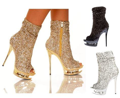 booties high heels the highest heel 31 rhinestone sequin ankle bootie