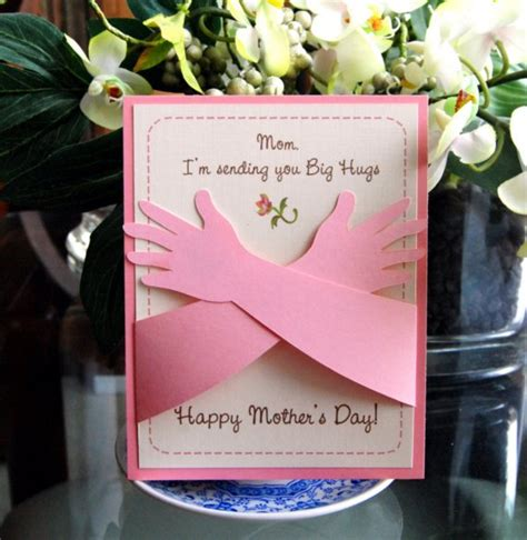 Homemade Mothers Day Card | homemade mothers day greeting card ideas family holiday