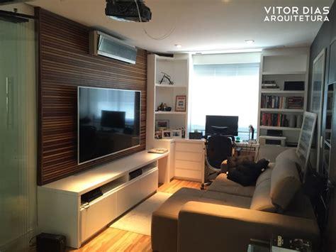 home theater integrado  home office por vitor dias