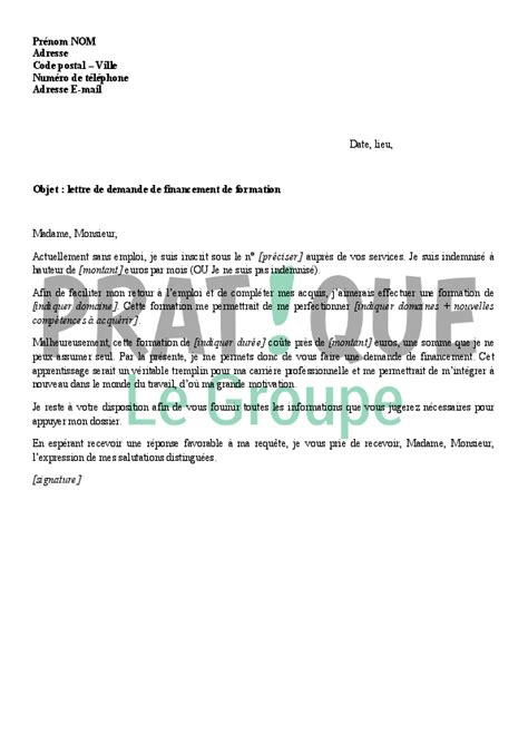 Exemple De Lettre Formation exemple lettre de motivation gratuite asvp