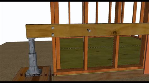 raise small leaning sheds home repairs youtube