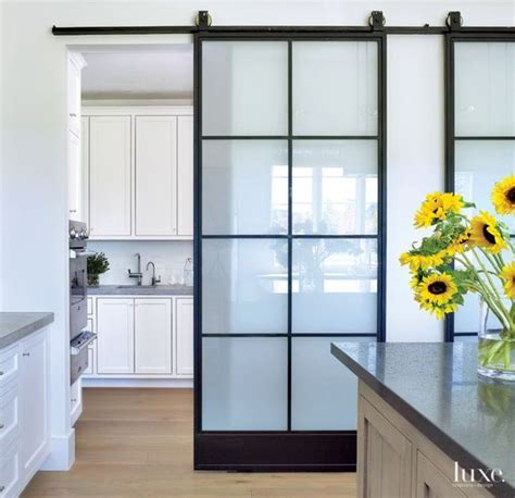 interior barn doors with glass modern and rustic interior sliding barn door designs